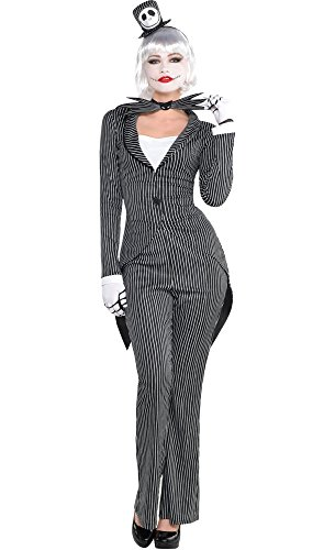 HalloCostume Adult Lady Jack Skellington Costume - The Nightmare Before Christmas -
