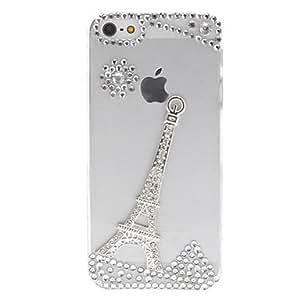 comprar Plata Torre Eiffel con diamantes cubierta transparente del caso para el iPhone 5/5S