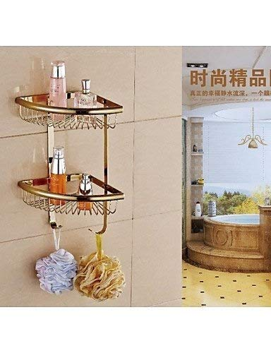 AI LI WAI Bathroom 0.5 Bathroom Gold Finish Wall Double Layer Triangle Soap Basket, Gold (Color: Golden) Bathroom Accessories JYT (Color : Golden) by AI LI WAI (Image #2)