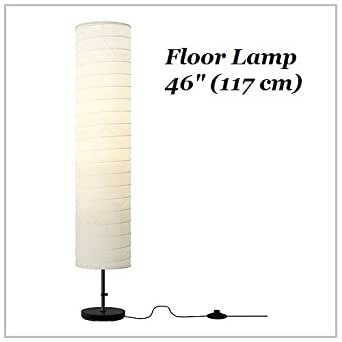 Ikea floor lamp 46 contemporary style modern soft lighting for Paper floor lamp amazon