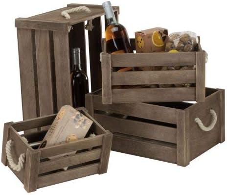 Renoir - Set 4 Cajas de Madera - Grande, Mediana, Pequeña, Mini - Caja de Regalo: Amazon.es: Hogar
