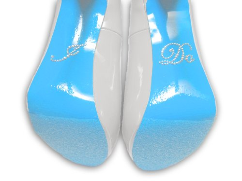 Rhinestone Sticker Blue Colored Shoe