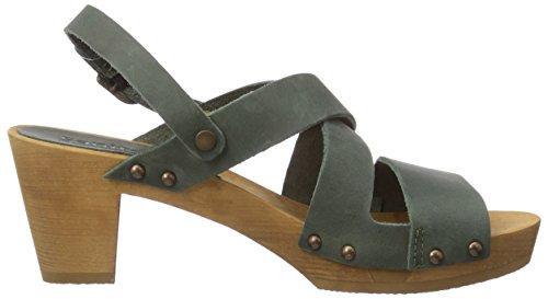 Sanita Olympia Square Flex Sandal - sandalias abiertas de cuero mujer verde - Grün (khaki / 43)