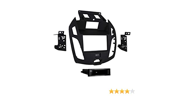 Metra 99-5831B Double//Single DIN Dash Kit for 2014 Black Metra Electronics Corp Ford Transit Connect with OEM 4.3 Screen