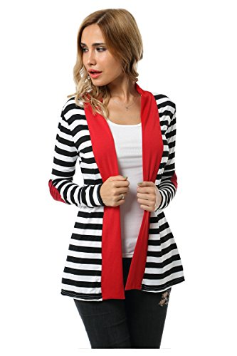 Aifer Womens Striped Sweater Cardigan product image