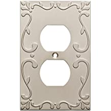 Franklin Brass W35071-SN-C Classic Lace Single Duplex Wall Plate/Switch Plate/Cover, Satin Nickel