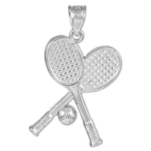 925 Sterling Silver Tennis Racquets and Ball Sports