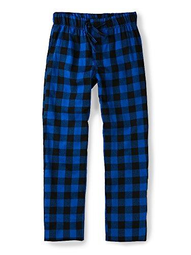 - OCHENTA Men's Cotton Woven Pajama Lounge Pant, Plaid Soft Sleepwear Blue Plaid 34
