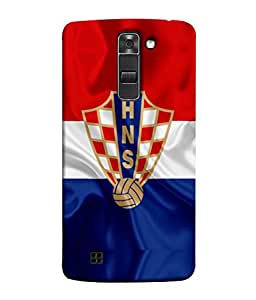 ColorKing Football Croatia 04 Multicolor shell case cover for LG K10