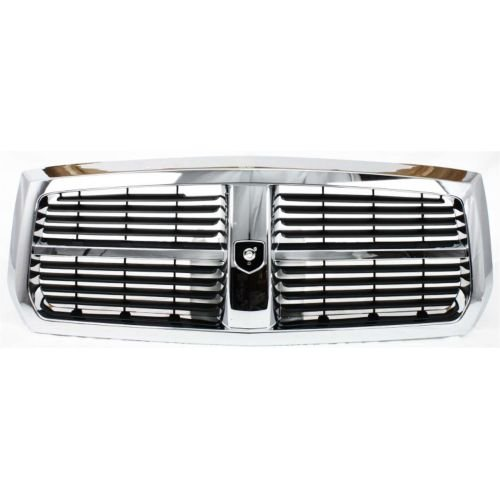 (Make Auto Parts Manufacturing Chrome Shell With Black Insert Horizontal Bar Grille Plastic For Dodge Dakota 2005-2007 - CH1200279)