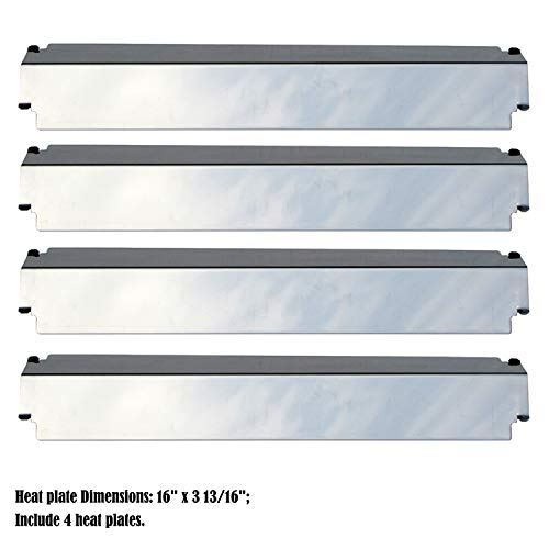 Direct store Parts DP126 (4-pack) Stainless Steel Heat Shield / Heat Plates Replacement Charbroil, Kenmore, Thermos, Gas Grill Models (Stainless Steel) ()