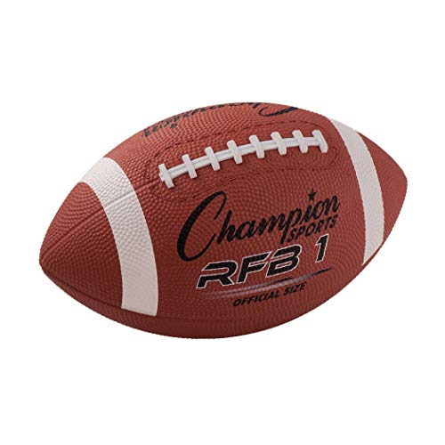 - Champion Sports Rubber Football, Official Size, Pack of 2