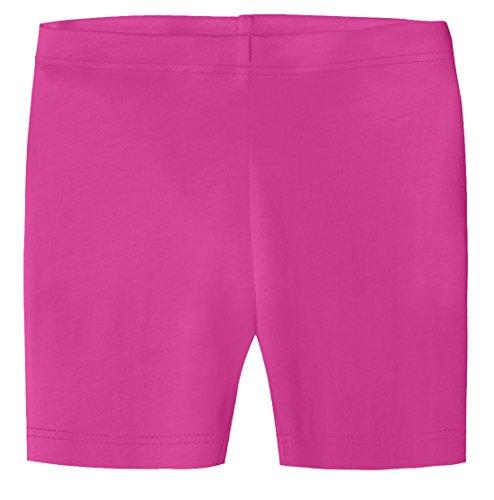 City Threads Big Girls Organic Cotton Underwear Bike Shorts For Sensitive Skin or SPD Sensory Friendly, Hot Pink, 8