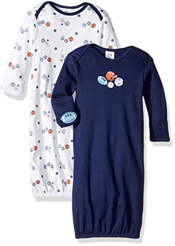 Applique Sleepsack - Gerber Baby Boys' 2-Pack Gown, Little Athlete, 0-6 Months