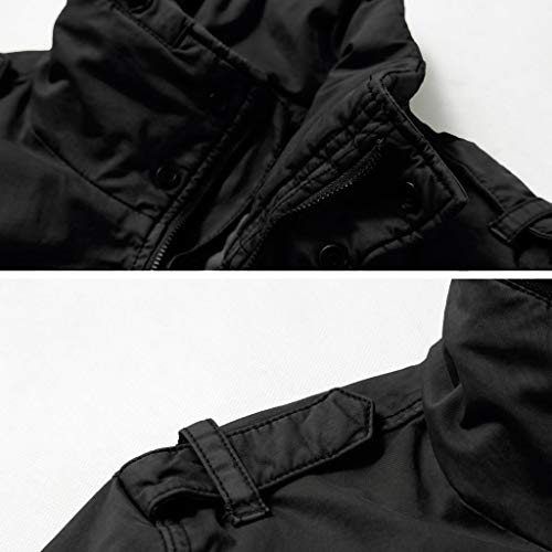 AKARMY Men's Tactical Jacket Casual Cotton Windproof Military Jacket Hiking Cargo Coat