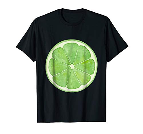 Lime slice fruit Halloween costume cute vegan t-shirt
