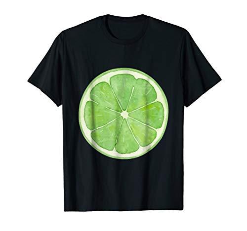Lime slice fruit Halloween costume cute vegan t-shirt ()