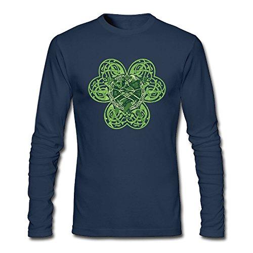 Maurm Creative Design Clover Connection Men Long Sleeve T Shirt Autumn T-shirt