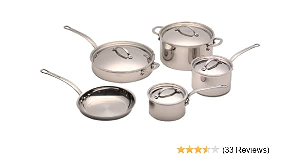 Amazon Com Kitchenaid Five Ply Stainless Steel Clad 9 Piece