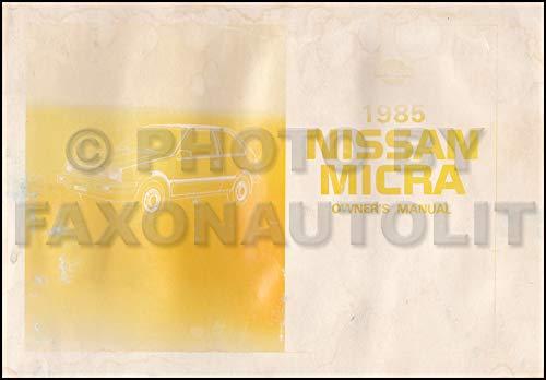 - 1985 Nissan Micra Owner's Manual Original