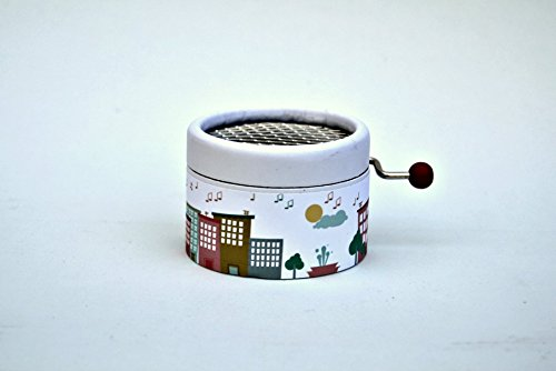 "Little hand cranked music box""City of music"" with the song La Vie en Rose"