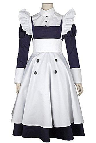 Ya-cos Halloween Masquerade Maylene Maid Dress Uniform Cosplay Costume ()