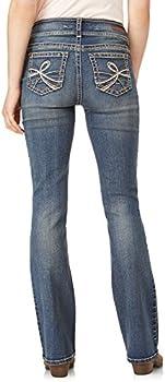 WallFlower Juniors Instastretch Luscious Curvy Bootcut Jeans Basil