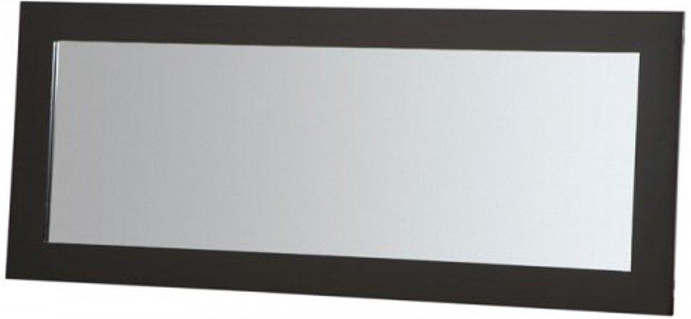PLATEAU SL-MIR (44 x 20) (B) Modern Accent Wood Mirror 44'' x 20'' , Black Satin paint finish by Plateau
