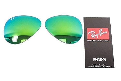 Ray Ban RB3025 3025 RayBan Sunglasses Replacement Lens FlashMirror Green - Replacement Lenses Ray Aviator Ban
