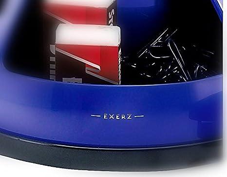 Exerz Tisch-Organizer//Stiftehalter//Schreibtischset 360/° drehbares Ablagesystem mit B/ürobedarf Stifte Blau Hefter Heftklammern Radiergummi INKLUSIVE Schere Lineal
