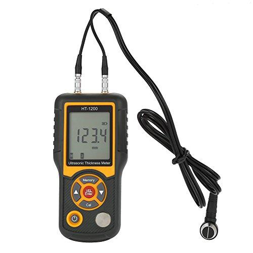 (HT-1200 Ultrasonic Thickness Gauge LCD Digital Meter Tester Measuring Tool 2.2~225mm Range)