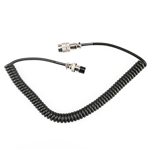 Firiodr Eight Pin Microphone Extension Cable Microphone Amplifier Cable for YAESU ICOM Kenwood