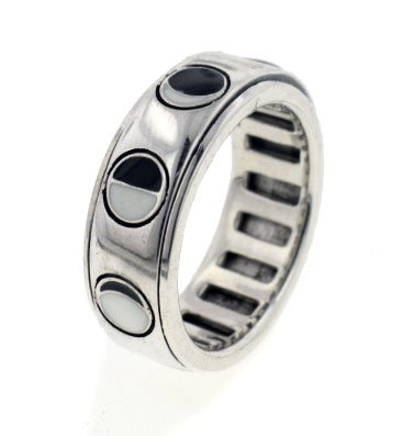 Sterling Silver Lunar Phases of the Moon Spinning Spin Band Ring Size 8(Sizes 4,5,6,7,8,9,10,11,12,13,14,15) (Silver Spinning Sterling Ring Spin)