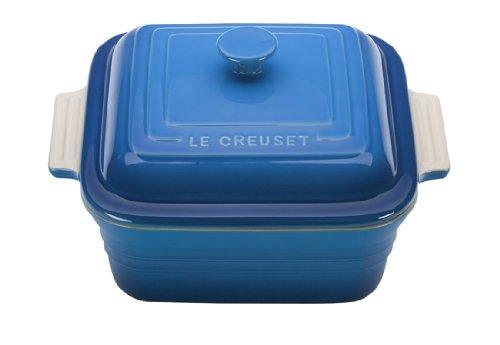 Le Creuset Stoneware 3-Quart Square Casserole with Lid, Marseille by Le Creuset