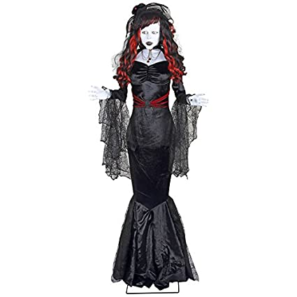 new holiday living halloween animatronic pre lit musical black widow lifesize greeter