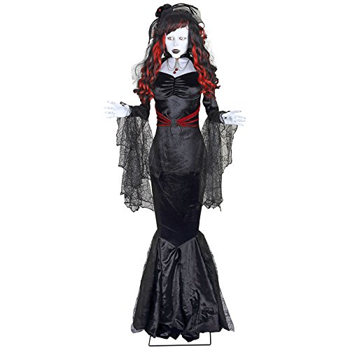Holiday Living (No Cinematic Universe) Animatronic Lighted Musical Usage Black Widow Lifesize Greeter Constant White Led Lights 73885