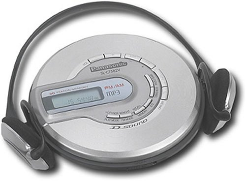 Panasonic SL-CT582V Portable CD Player with MP3 Playback (Discontinued by Manufacturer) (Panasonic Cd Player)