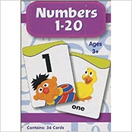 Sesame Street Numbers 1 20 Flash Cards 9781595453457 Amazon Com Books