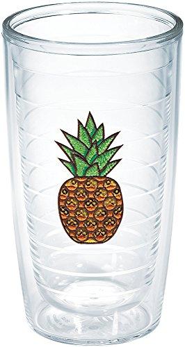 Tervis Pineapple Expression Emblem Bottle, 16-Ounce, (Pineapple Emblem)