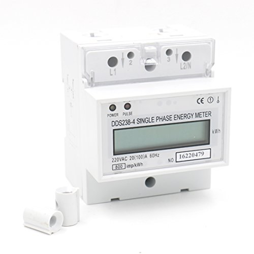 Baomain DDS238-4 20(100) Single Phase DIN-rail Type Kilowatt Hour kwh Meter 220V 60Hz 20(100)A 1pcs