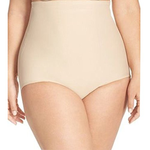 Double Gusset Brief - BeautyLean Tummy Control Shapewear for Women High Waist Shaping Panty Firm Control Briefs Plus Size (Nude, 2X)