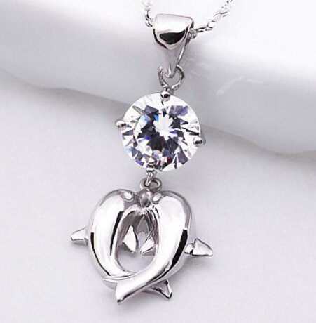 Hermosa S925 Dolphin Pendant Necklace lUlSOanGwS