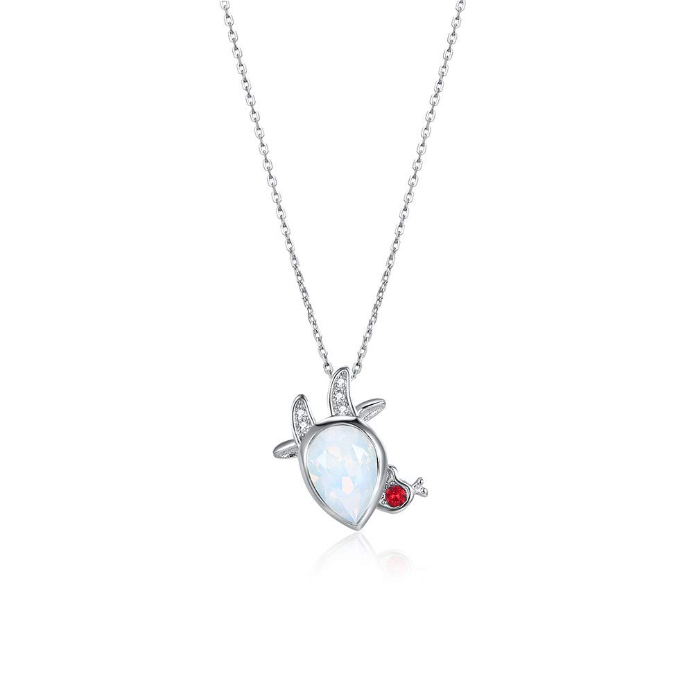 myazs8580 LEKANI from Swarovski Elements Trend New S925 Sterling Silver Fashion Personality 12 Constellation Pendant Necklace Aries
