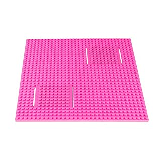 """Strictly Briks Classic Trap & Gap 10"""" x 10"""" Pink Stackable Baseplate 