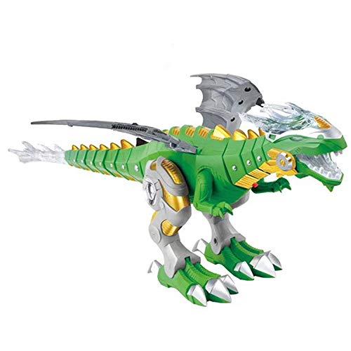 Lljin Walking Dragon Toy Fire Breathing Water Spray Dinosaur WeeziShop (Green)