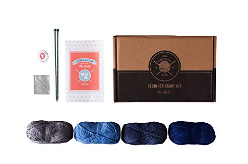 Learn to Knit Kit - Scarf (Blue) by KnitPicks