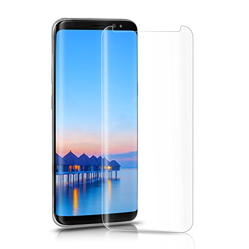 Bestfy Galaxy S8 Plus Screen Protector, [Case Friendly Updated], [3D Curved], [HD Clear Tempered Glass] Screen Protector for Samsung Galaxy S8 Plus, Transparent