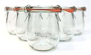 Weck 762 Tulip Jelly Jar, SET of 6