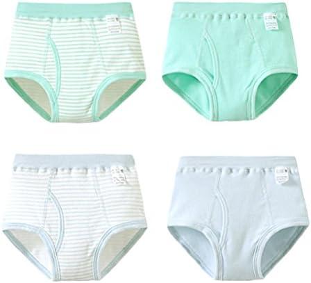 4 PCS Children's Comfortable Cotton Underwear Boys Elastic Underwear