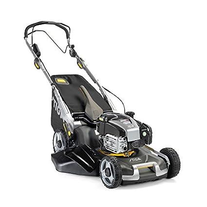 Stiga twinclip 55 sveq B – Cortacésped a gasolina motor Briggs & Stratton 163 cm³ 2,59 kW arranque eléctrico, Avance a tracción, Variador de velocidad, ...